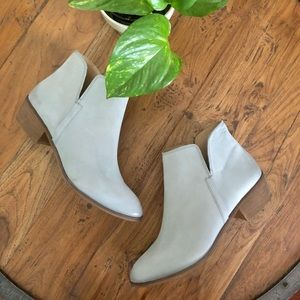 Spendid stacked heel leather ankle boots